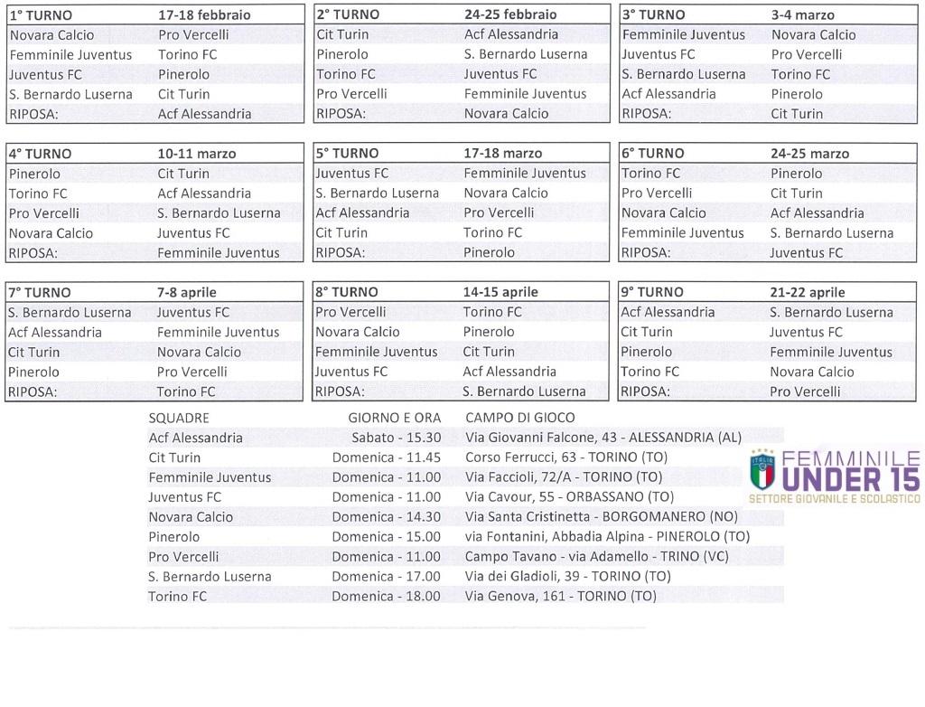 Torino Fc Calendario.Juventus 10 0 Area Calcio Alba Roero